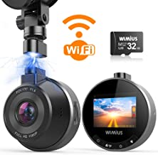 Dash Cam WiFi, WIMIUS 1080p Dash Camera for Cars, Magnetic Car Camera Recorder with Loop Recording, G-Senor, WDR Night Vis...