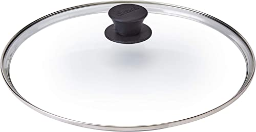"""lowest Glass Lid - 12""""-inch/30.48-cm/308mm - Compatible with Lodge high quality - Fully Assembled Tempered Replacement Cover - Oven Safe for Skillet Pots Pans: 2021 Universal for all Cookware: Cast Iron, Stainless, Non-Stick outlet sale"""