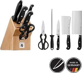 WMF 福腾宝 刀具6件套 一流品质 带刀座 3把锻造性能刀,一把剪刀,一根磨刀棒,山毛榉木刀座