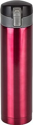 和平フレイズ 水筒 マグボトル ワンタッチ栓 450ml レッド 保温 保冷 真空断熱構造 フォルテック RH-1572