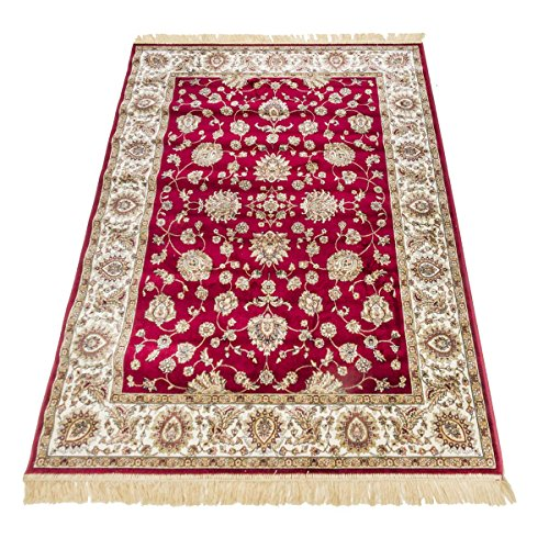 WEBTAPPETI - Colección Rubine - Código 492 - Alfombra oriental Sarouk, de diseño clásico, color rojo