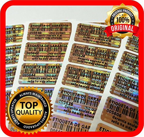 250Pcs Holograma grama sello de garantía etiquetas de la seguridad Pegatina de Seguridad 32x 15mm Spanish Texto