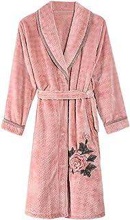 GAOLILI 冬のレディーシックニングローブレディープラスロングセクションホーム衣類バスローブ