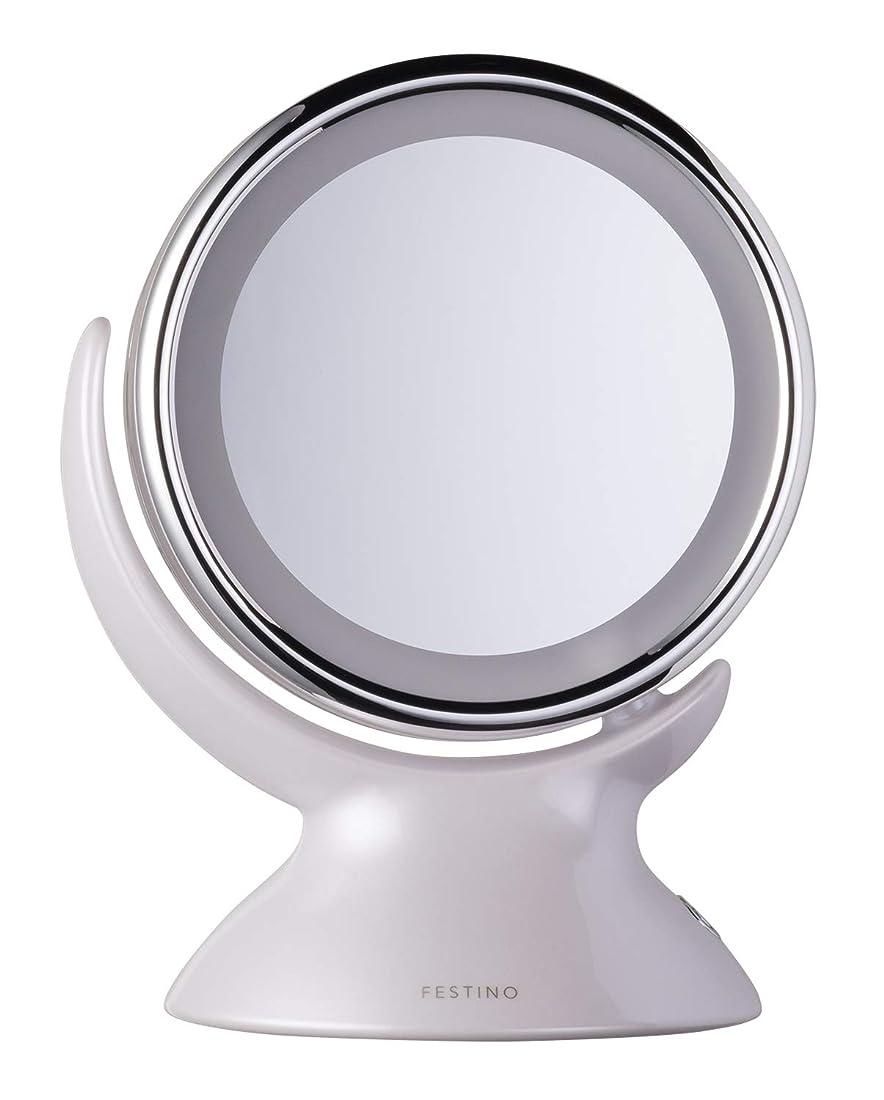 ファイター優しさ独裁SIMPLE MIND FESTINO Around LED Mirror ミラー (ホワイト)