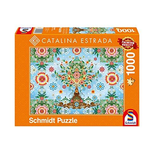 Schmidt spel puzzel 59589 Catalina Estrada, kleurrijke boom, 1000 delen puzzel