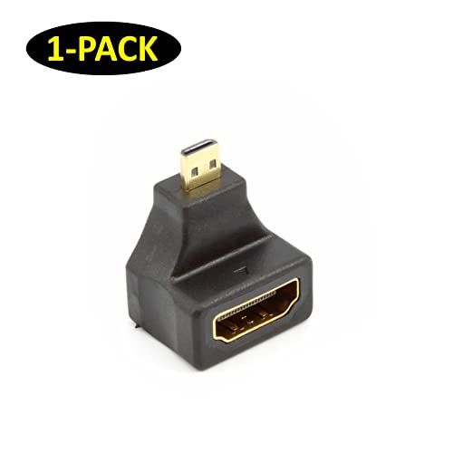 gold planted HDMI Female to 90 Degree right Angled Micro HDMI Male Adapter Cable