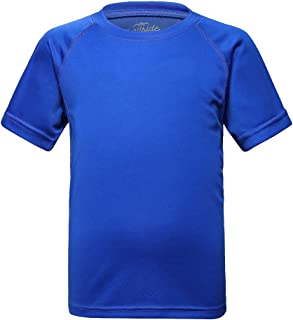 Trailside Supply Co. Big Boys' Quick-Dry Active Sport Short Sleeve Compression Baselayer T-Shirt