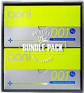 Aoni Condoms Value Pack -Nanosilver Ultrathin 001 24 PCS Bundle Pack - Premium 001 Series - Water Based Lubricant