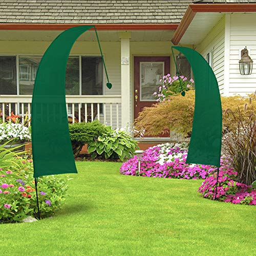Grünes Swooper Flaggen, Leer Benutzerdefinierte Banner, Perfekt als Garten Dekoration, Werbe Display, Outdoor Sport Dekoration