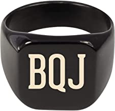 Molandra Products BQJ - Adult Initials Stainless Steel Ring