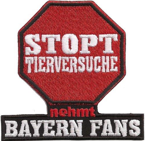 Stopt Tierversuche nehmt Bayern Fans Anti Bayern Trikot Aufnäher Patch