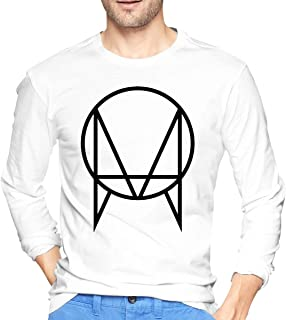 Owsla Skrillex Mans T Shirt Round Neck Print Long Sleeve Tee Tops White