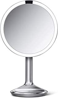simplehuman ST3036 20cm Sensor Mirror SE, Brushed Stainless Steel, 5X Magnification