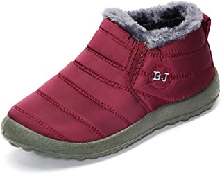 Hubei BJ Shoes Warm Wool Lining Flat Ankle Snow Boots for Women
