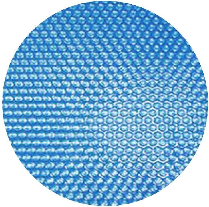 DASNTERED Cubierta de piscina, anti polvo impermeable piscina cubierta PE burbuja piscina cubierta protectora redonda aislamiento térmico solar (azul, tamaño: 244 cm)