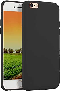 Compatible withiPhone 8 Case 2017/iPhone 7 2016 Case,Soft TPU Slim Thin Durable Anti-Scratch Shock-Absorption Resistant Shield Cell Mobile Phone Cover Case for Girls Women Man Boys,Black