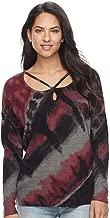 Rock & Republic Strappy Sweater Top - Red Tie-Dye