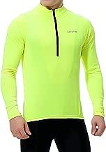 Men's Cycling Jersey, Long Sleeve Bicycle Bike Shirt, Reflective & Quick Dry