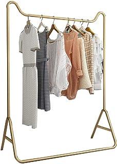 sans marque JIE- Penderie Métal Doré Porte-vêtements Chambre Intérieure Robuste Cintre avec Tige Supérieure Présentoir De ...