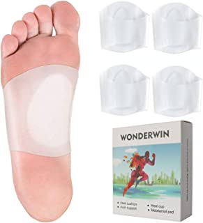 Gel Arch Supports for Plantar Fasciitis, Flat Feet, Fallen Arches, 2 Pairs of Soft Silicone Clear Reusable Arch SleevesWrap with Padded Cushions M5-8.5 / W6-9.5 - Small
