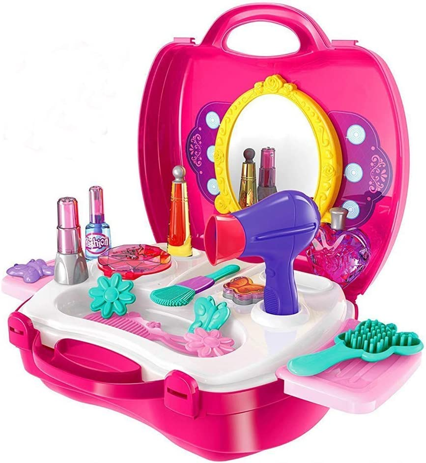 WenToyce Kids Pretend Now on sale Play Make Up Durabl Cosmetic Set Case New product!! And