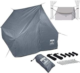 Oak Creek Advanced Hammock Rain Fly. 110 Inch Multipurpose Rainfly for Hammocks. Provides Protection from The Elements. Lightweight Waterproof Tarp Works with Any Camping Hammock