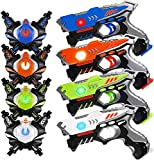 HISTOYE Laser Tag Guns Sets of 4 Players Game Laser Tag Sets with Gun and Vest Indoor Outdoor Toy Gun Battle for Boys Toys Age 3 4 5 6 7 8 9 10+ Gifts for 12 Year Old Boy