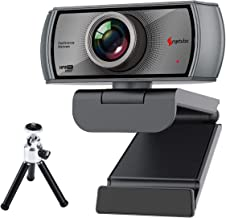 1080P 60FPS Webcam with Microphone, Angetube 920H Pro USB HD Computer Web Camera with Tripod,120 Degree Wide View Angle PC...