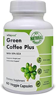 Green Coffee Plus | Premium Green Coffee Bean Extract. Supports Weight Loss, Rich in Antioxidants. Non-GMO, Vegan, & Glute...