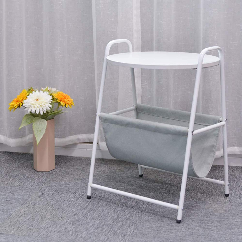 Modern Minimalist Small Desk, Simple Small Coffee Table, Bedroom Round Bedside Table,Mobile Tea Table
