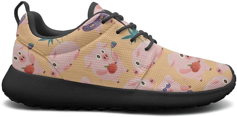 Gjsonmv New Year 2019 Hawaiian Beach Pig mesh Lightweight shoes for Women Non Slip Sports Bike Sneakers shoes