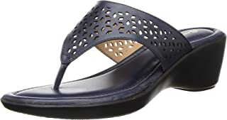 BATA Women's Rimini Thong Blue Fashion Slippers-6 UK (39 EU) (6719904)