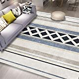 cuadros decoracion salon grandes alfombras infantiles La alfombra gris de la sala de estar es un rectángulo moderno resistente a las manchas, antideslizante y a prueba de humedad cuadros cabecero...