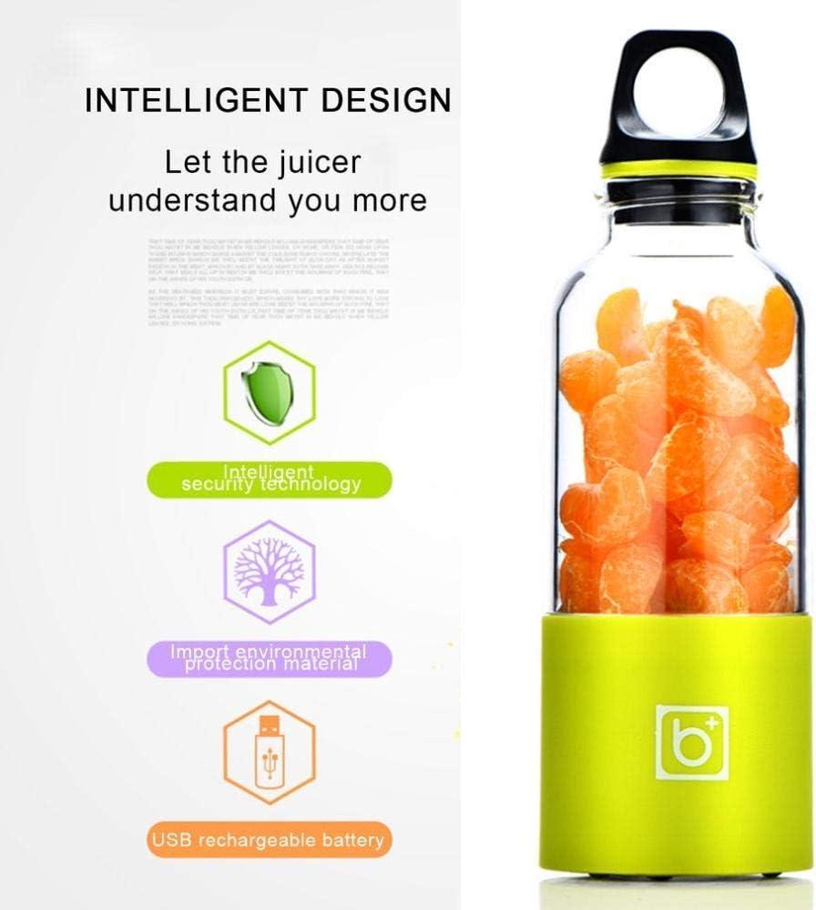 zyl Presse-Agrumes 500 ML Mini Portable Juicer Blender Maker Shaker Squeezers Fruit Orange Juice Extractor Green Green