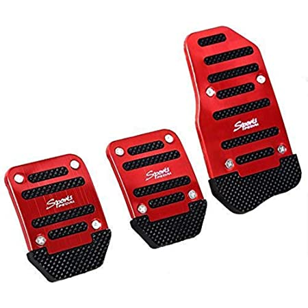 2Pcs Car Racing Sports Non-Slip Automatic Accessories Gas Brake Pedals Pad Cover