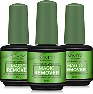 Magic Nail Polish Remover(3 PACK) - Professional Remove Gel Nail Polish Within 3-5 Minutes - Quick & Easy - No Need For Foil, Soaking Or Wrapping - 15ml