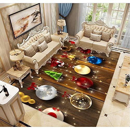 YQZS Alfombras De Habitación Dormitorio Sala Copos de Nieve sobre Tabla de Madera Brillo de Color Intenso Muy Duradero,200X300cm(79X119inch)