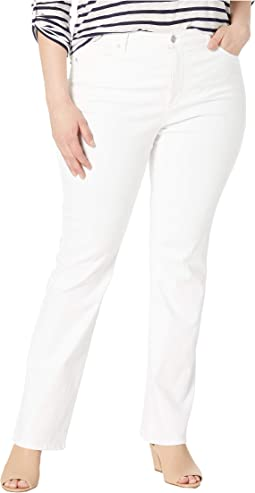 Plus Size Barbara Bootcut in Optic White