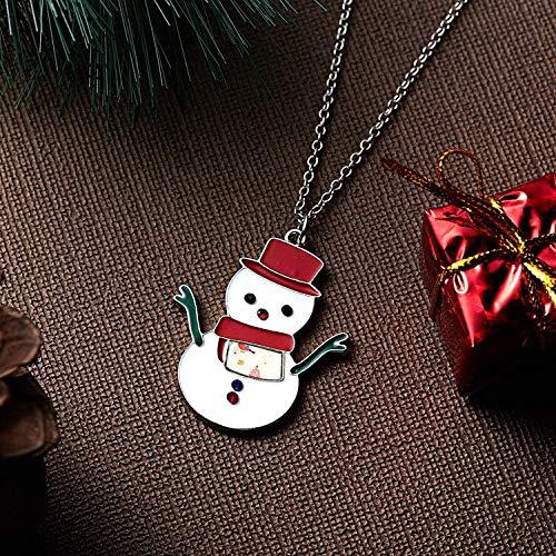 PMSMT DoreenBeads New Creative Weihnachten Schneemann Malerei Öl Aufkleber Anhänger Halskette Mode Einfacher Trend Wilde Halskette Damen Mädchen