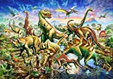 HUADADA Jigsaw Puzzles for Kids, 100 Piece Jigsaw Puzzles for Children Age 4 and Up Dinosaur Friends Jigsaw Puzzle (100 Pieces)