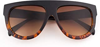 Fashion Designer Women Sunglasses Oversized Flat Top Square Frame Retro Gradient Lens MOS9