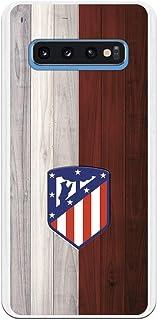 Funda para Samsung Galaxy S10 Oficial del Atlético de Madrid Madera para Proteger tu móvil. Carcasa para Samsung de Silicona Flexible con Licencia Oficial de Atlético de Madrid.