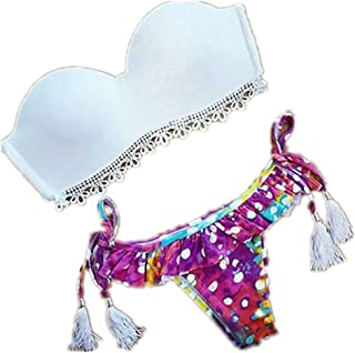 Baby Box Brazilian Vintage Triangle Swimwear Bikini Bandeau Push Up Bra