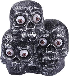 Atmospheric Halloween Skull Lights Resin Scary Skeleton Lamp Desktop Ornaments Halloween Props Compatible with Halloween P...