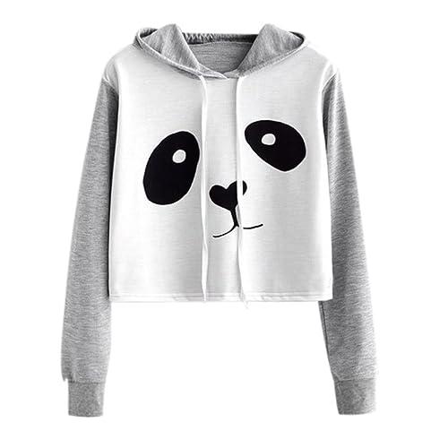 yalan Sweat Femme Hiver Panda Pull Femme Mode Manteau Femme Automne Vetement Femme Pas Cher Sweat a Capuche Femme Court Chemisiers Femmes Tops Printemps Sweatshirt Fille