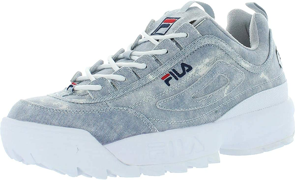 fila disruptor with jeans