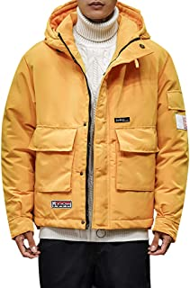 HHei_K Soft Sweatshirts Pure Color Hat Cotton Tops Outdoor Fashion Clothing Coat Yellow