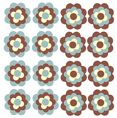 Autosticker Tegel Stickers Fiets Stickers Bloemen Zoals Bloemen Bloemen Ontwerp 16 x 3 cm