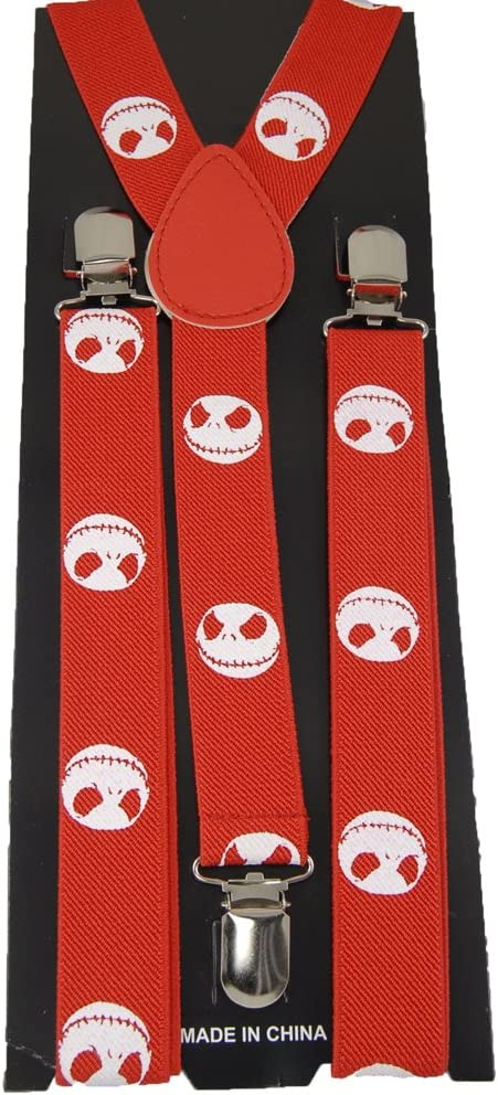 Unisex Clip-on Braces Elastic Red