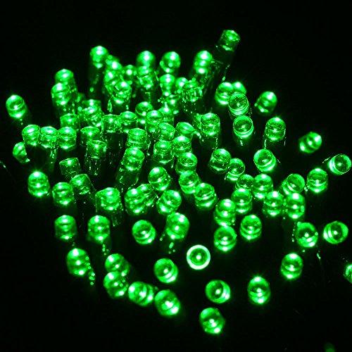 XZB Solar String Lights,200 LED 8 Modes Solar Fairy Lights Lamps,Waterproof Outdoor String Lights For Garden Patio Fence Christmas Tree Wedding Party (Color : Green)